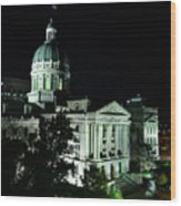 Indian State Capitol Wood Print