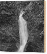 Indian Well Flows Bw Wood Print