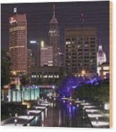 Indianapolis Canal View Wood Print