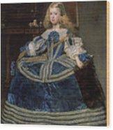 Infanta Margarita Teresa In A Blue Dress Wood Print