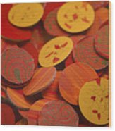 Inferno Wood Print by Michael Cantor