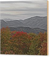 Infinite Smoky Mountains Wood Print by DigiArt Diaries by Vicky B Fuller