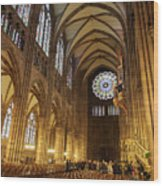 Interior Of Strasbourg Cathedral Wood Print