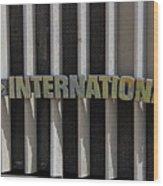 International Semi Truck Emblem Wood Print