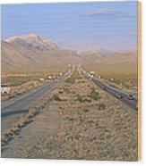 Interstate 15, Near Las Vegas, After Wood Print