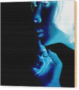 Inverted Realities - Blue  Wood Print