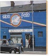 Ira Mural In Belfast In Northern Ireland Wood Print