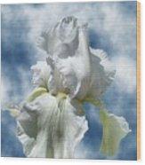 Iris In The Clouds Wood Print