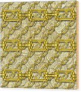 Iron Chains With Money Seamless Texture Wood Print