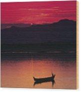 Irrawaddy River Wood Print