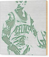 Isaiah Thomas Boston Celtics Pixel Art Wood Print