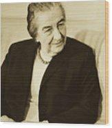 Israel Prime Minister Golda Meir 1973 Wood Print