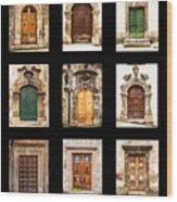 Italian Doors Wood Print