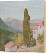 Italian Villa Wood Print