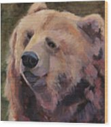 It's Good To Be A Bear Wood Print