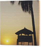 Ixtapa Sunset Wood Print