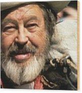 Jack Hendrickson With Pet Burro Helldorado Days Parade Tombstone Az 1980 Wood Print