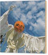 Jack-o-lantern Man Wood Print