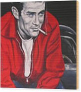 James Dean Put His Picture In A Picture Show Wood Print by Eric Dee