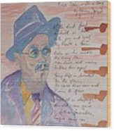 James Joyce Wood Print