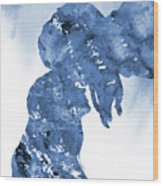 Jane And Tarzan-blue Wood Print