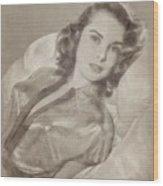 Janet Leigh, Vintage Actress Wood Print