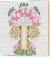 Japanese Newyear Decoration Wood Print