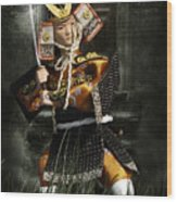 Japanese Samurai Doll Wood Print by Christine Till