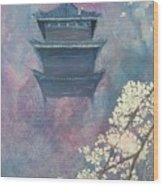 Japanese Spring Scene Wood Print