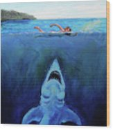 Jaws  Revisited Wood Print
