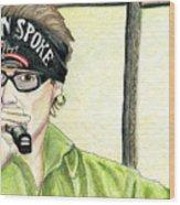 Jay Allen At The Broken Spoke Saloon Wood Print