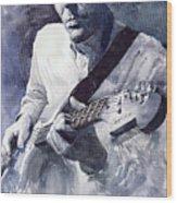 Jazz Guitarist Rene Trossman  Wood Print by Yuriy  Shevchuk