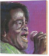 Jazz. James Brown. Wood Print