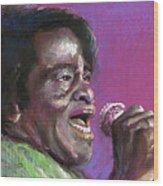 Jazz. James Brown. Wood Print by Yuriy  Shevchuk
