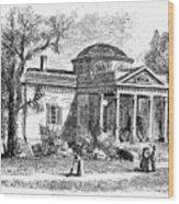 Jefferson: Monticello Wood Print by Granger