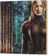 Jennifer Lawrence Collection Wood Print