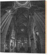 Jerez De La Frontera Cathedral Dome From Inside Cadiz Spain Wood Print