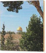 Jerusalem Trees Wood Print