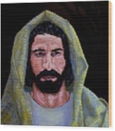 Jesus In Contemplation Wood Print
