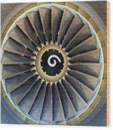 Jet Engine Detail. Wood Print