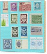 Jnf Stamps  Wood Print