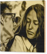 Joan Baez With Bob Dylan Wood Print