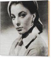 Joan Collins, Actress Wood Print