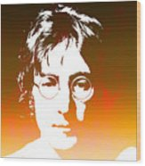 John Lennon The Legend Wood Print