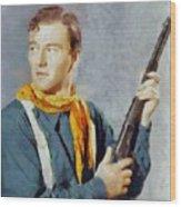 John Wayne, Vintage Hollywood Legend Wood Print