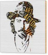 Johnny Depp Movie Titles Wood Print