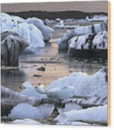 Jokulsarlon Glacier Lagoon Iceland 2050 Wood Print