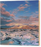 Jokulsarlon Glacier Lake - Iceland Wood Print
