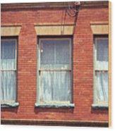 Jonesborough Tennessee Three Windows Wood Print