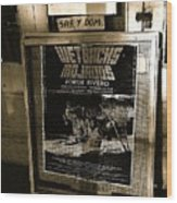 Jorge Rivero Movie Theater Poster Us/mexico Border Town Naco Sonora Mexico Wood Print